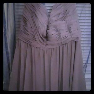 Dresses & Skirts - Beautiful smokey blue strapless dress.